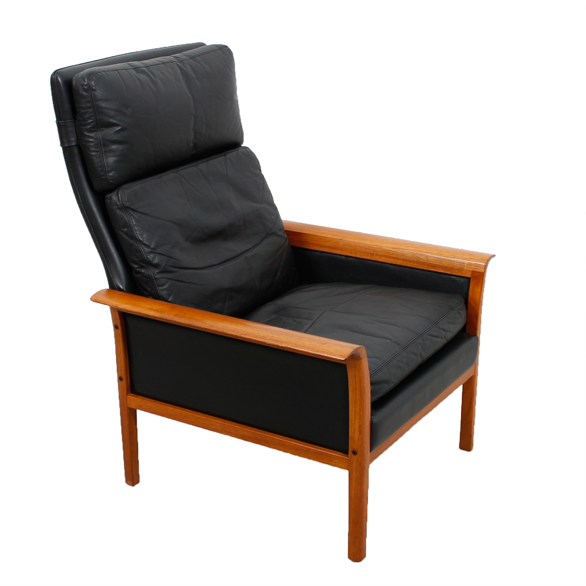 Hans Olsen Teak & Leather Lounge Chair