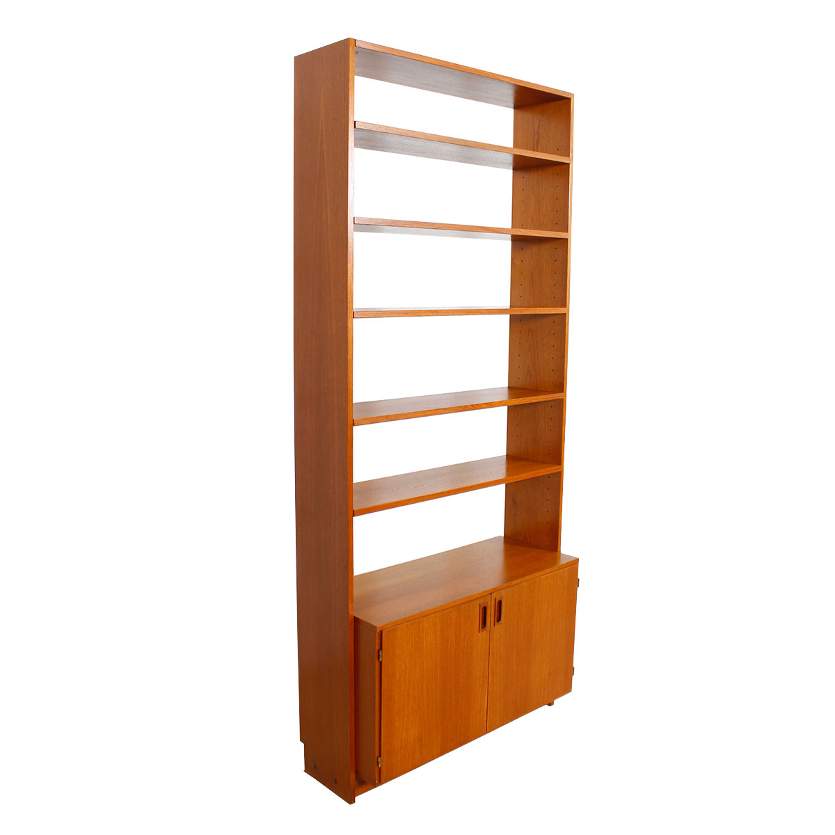Danish Modern Teak Open Bookcase / Display Unit w / Storage Unit