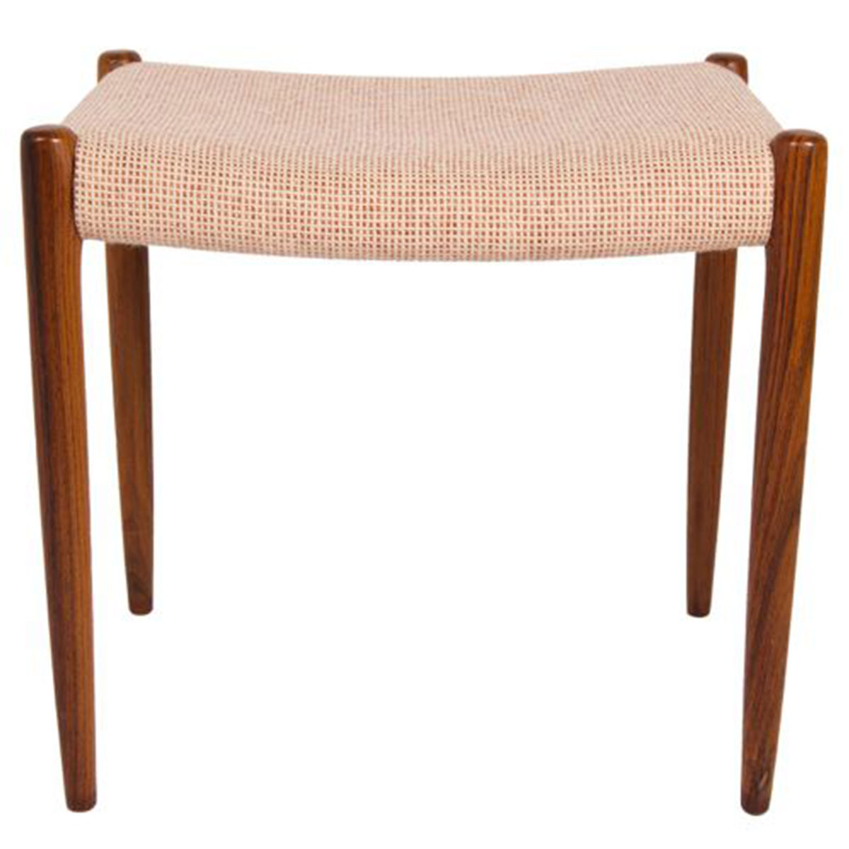 Niels Moller Danish Rosewood Upholstered Ottoman