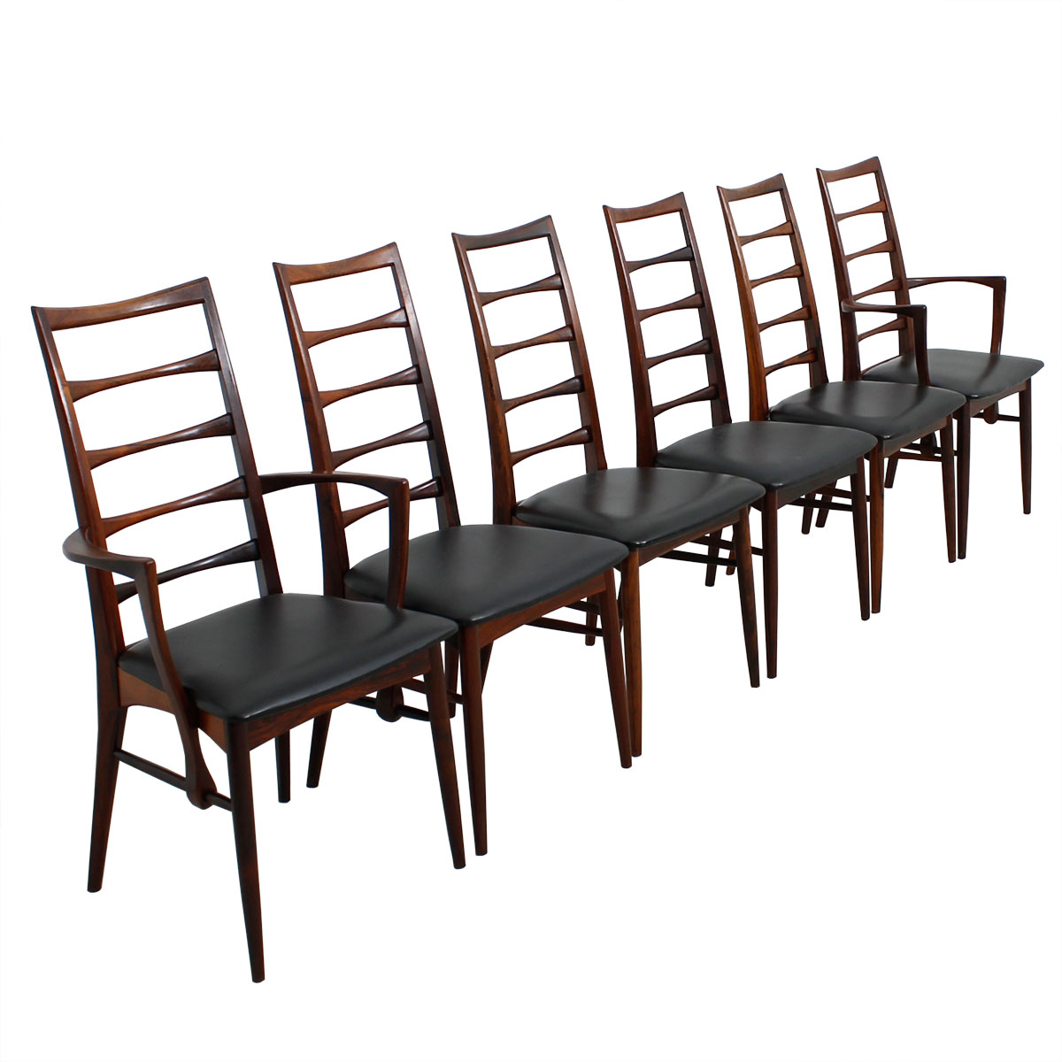 Set of 10 Koefoeds Hornslet Danish Modern Rosewood Dining Chairs