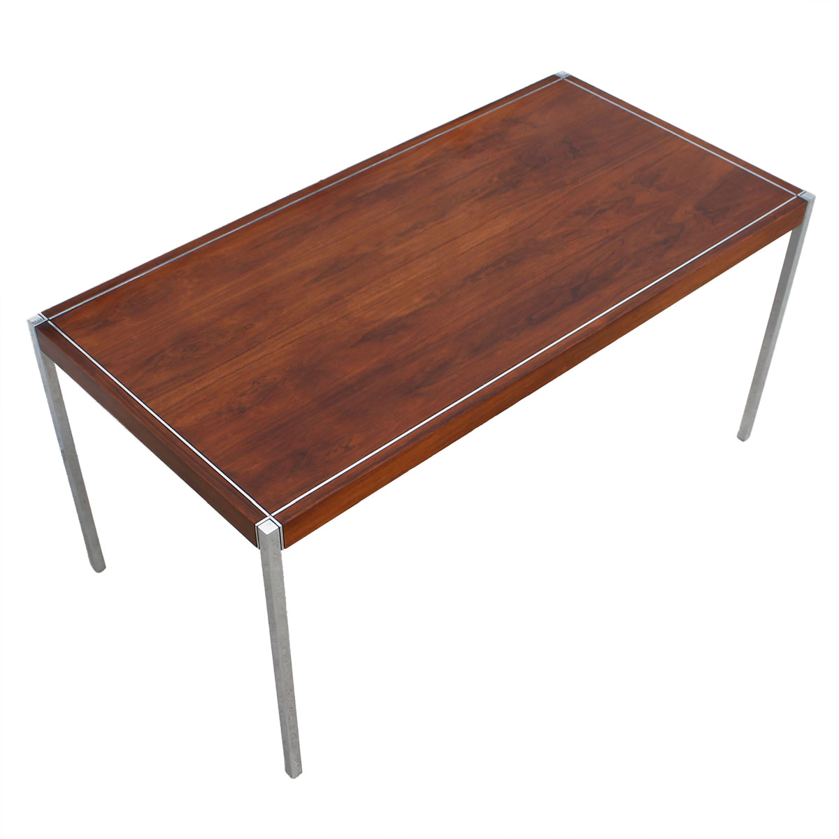 Richard Schultz for Knoll Int'l — Rosewood & Chrome Desk / Work Table