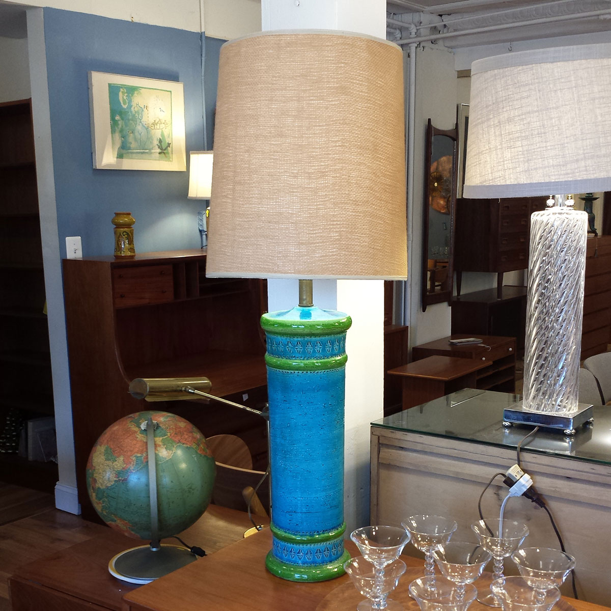 Blue & Green Bitossi Table Lamp