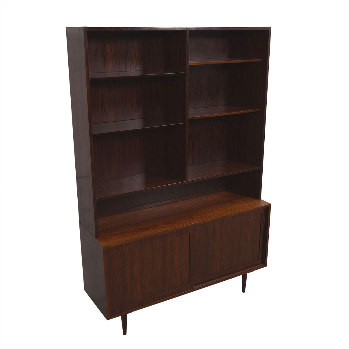 Danish Modern Rosewood Display Cabinet / Bookcase