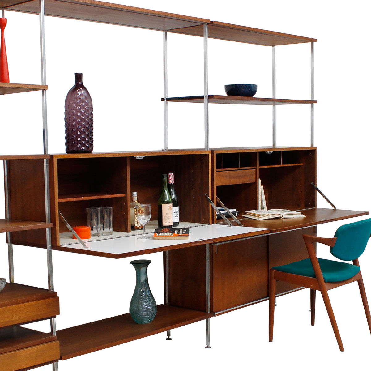 Rare Wall Unit Designed by Hugh Acton