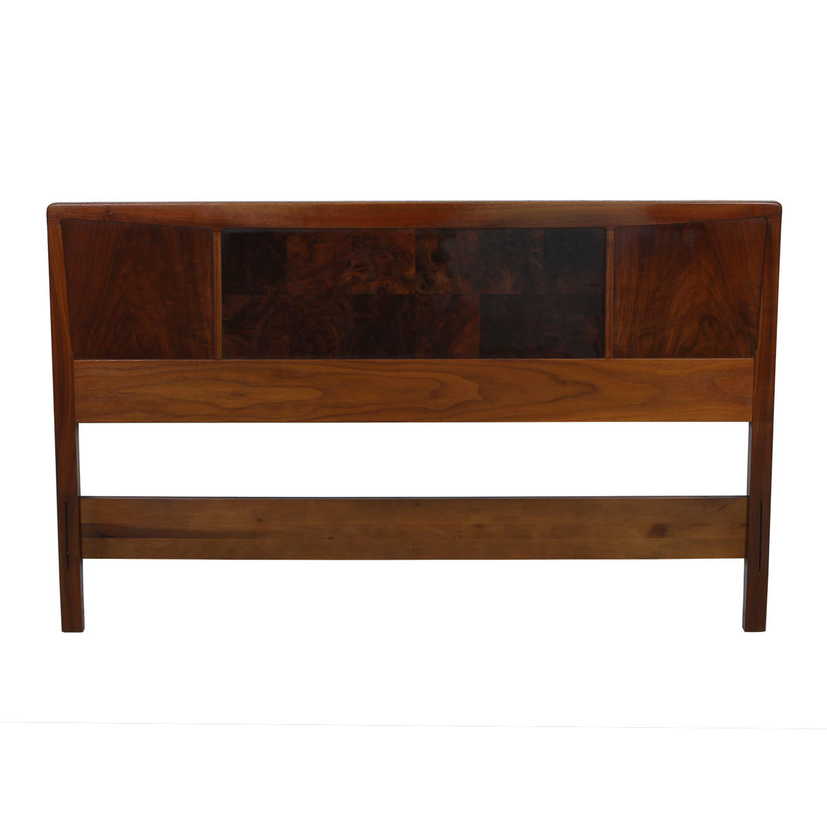 Vintage Burled Walnut Headboard by Heritage