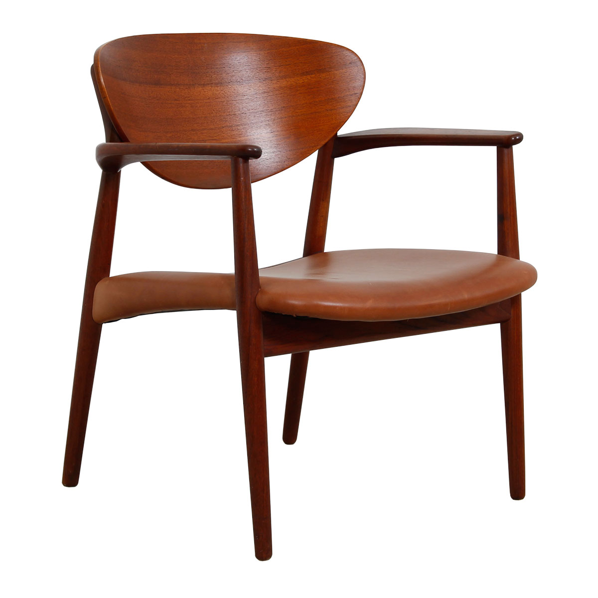 Georg Jensen Teak & Leather Arm Chair (1965)