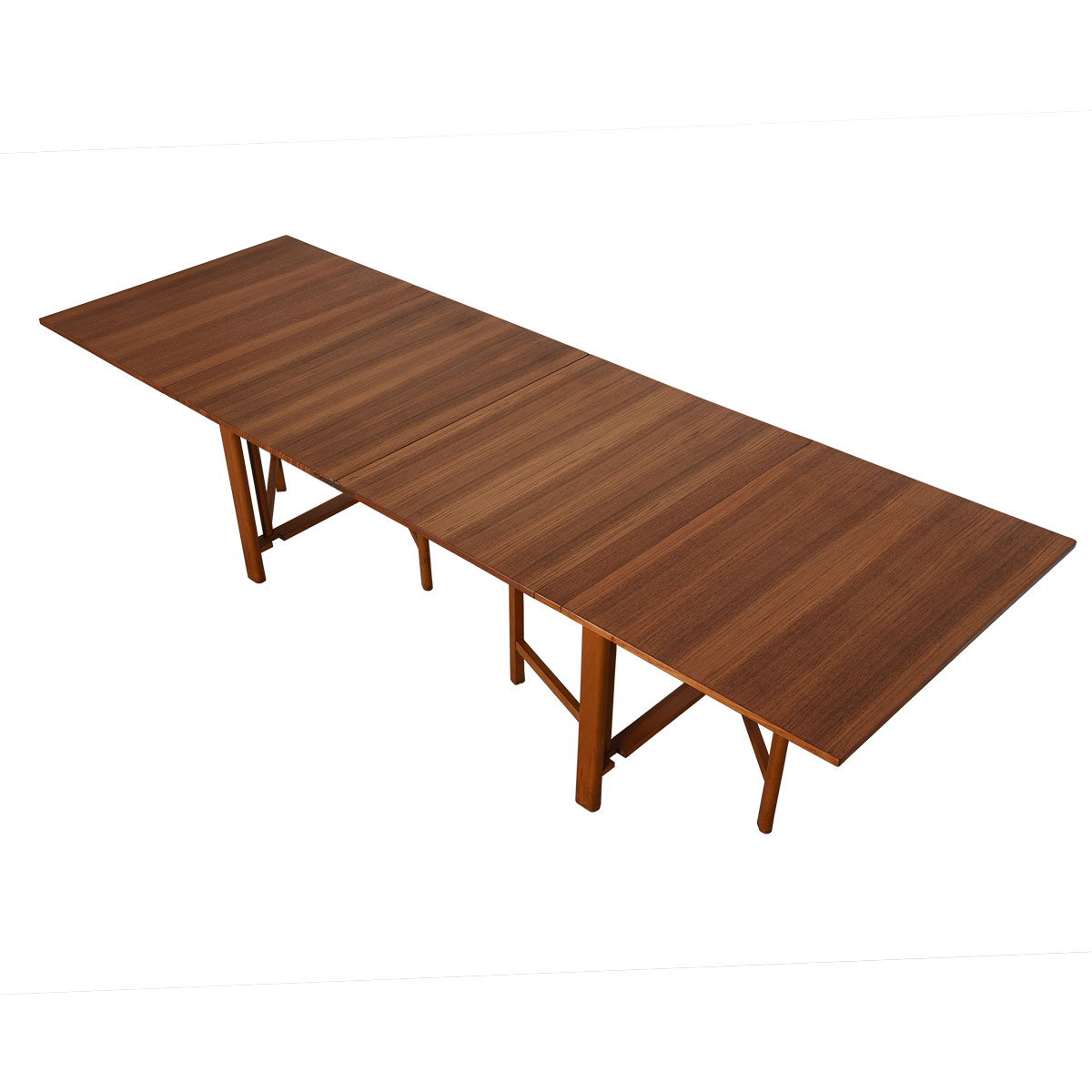 Iconic Super Expanding 'Maria Flap' Table in Teak by Bruno Mathsson, Sweden