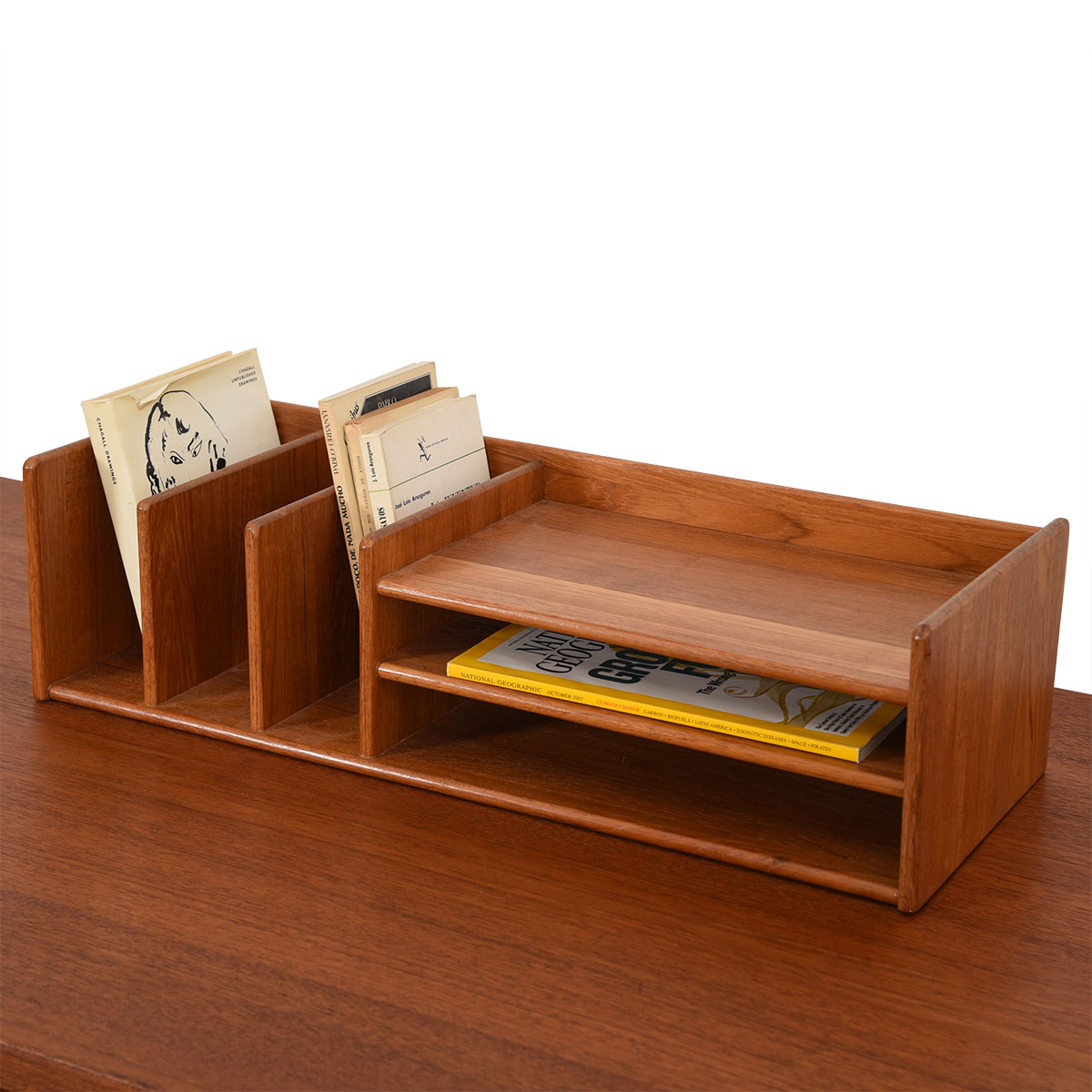 Danish Modern Desk Organizer in Teak by Pedersen & Hansen