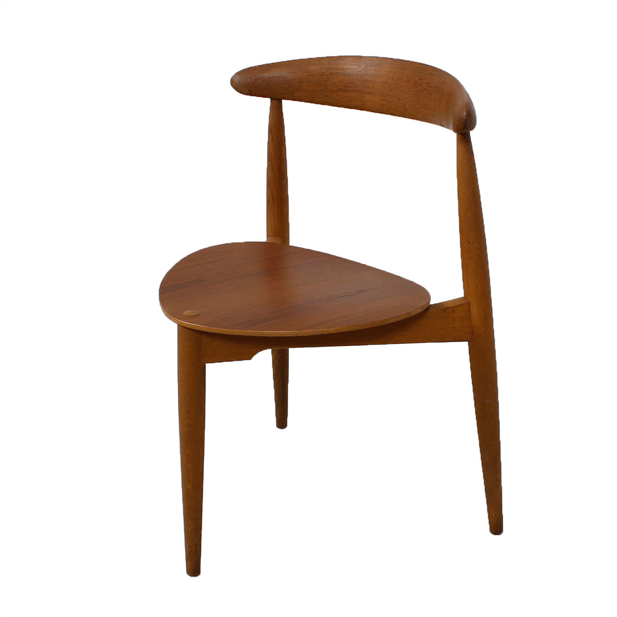 "Set of 6 Danish Modern ""Heart"" Dining Chairs by Hans Wegner in Teak"