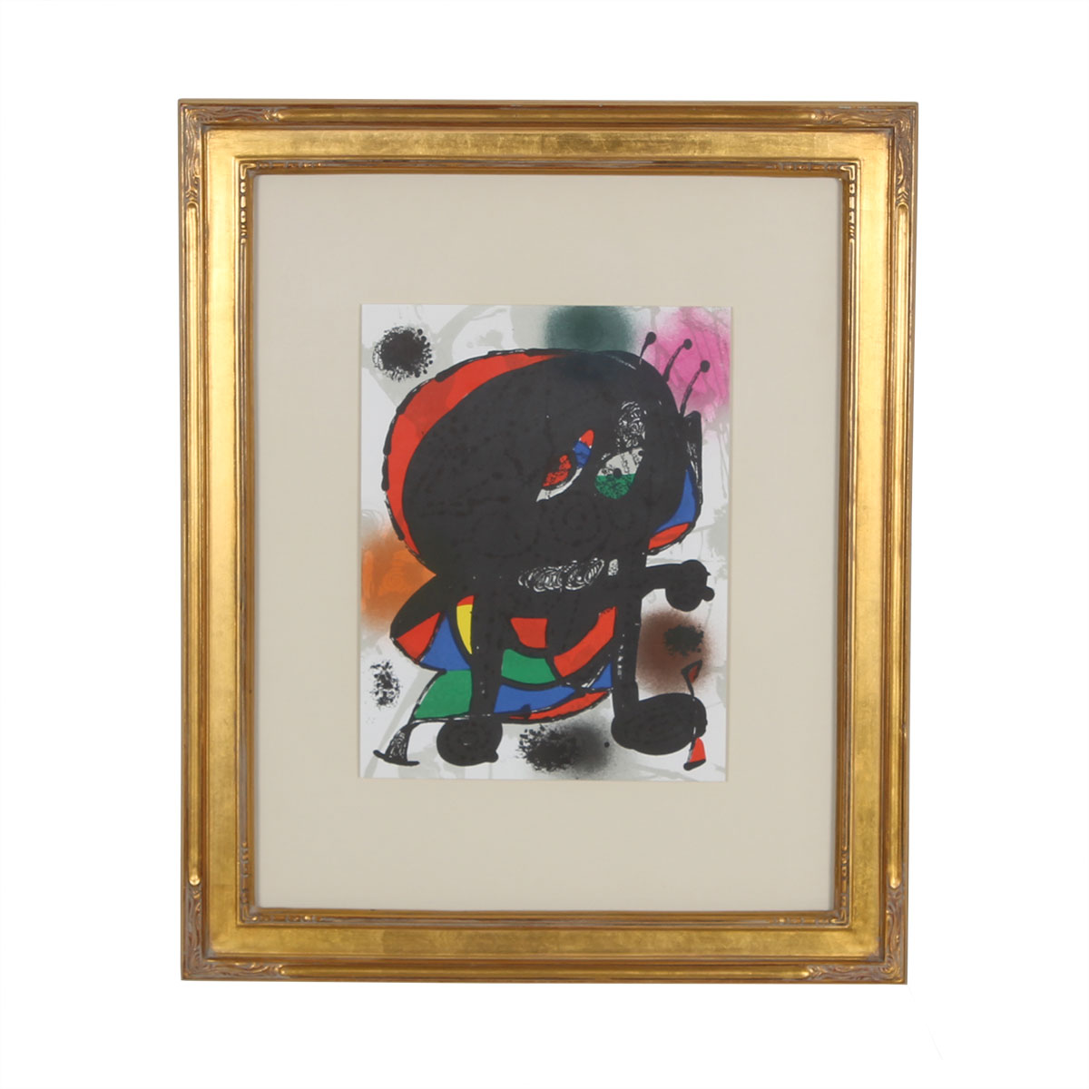Print of Abstract Figure by Joan Miro, Lithograph