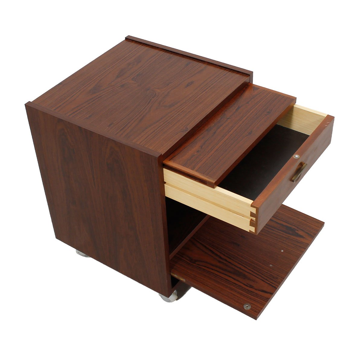 Danish Modern Rosewood Nightstands / End Tables (priced as pair)