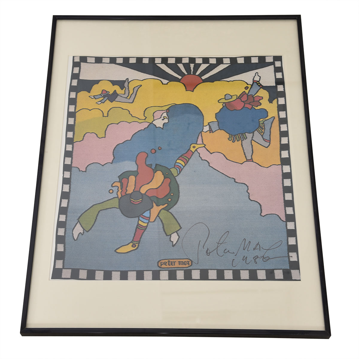Vintage Photo of a Peter Max Poster, Signed by Peter Max