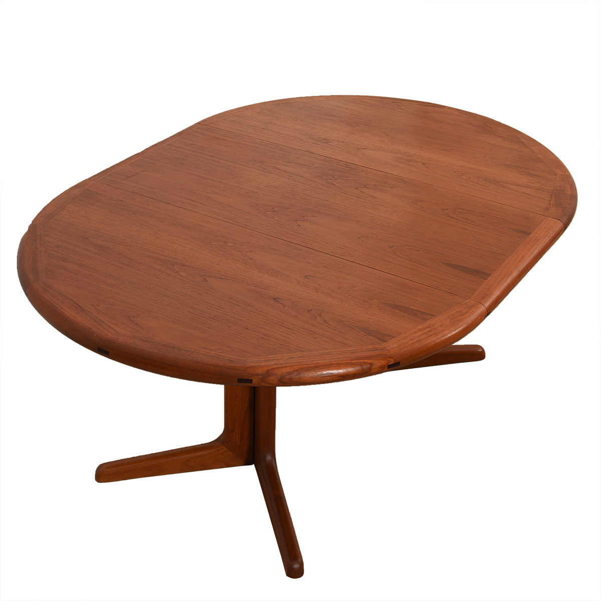 Danish Modern Expanding Round Dining Table w/ Leaf