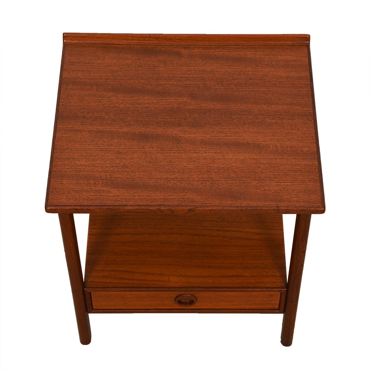 Rare Pair of Teak Swedish Modern Night Stands / End Tables by Dux