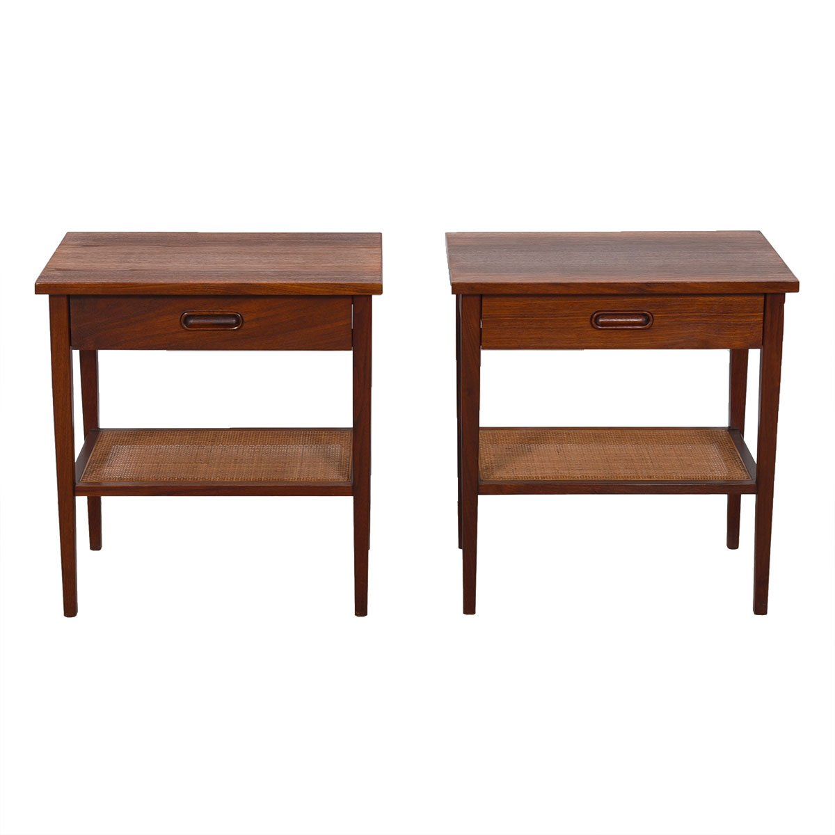 Pair of MCM Walnut Night Stands / End Tables