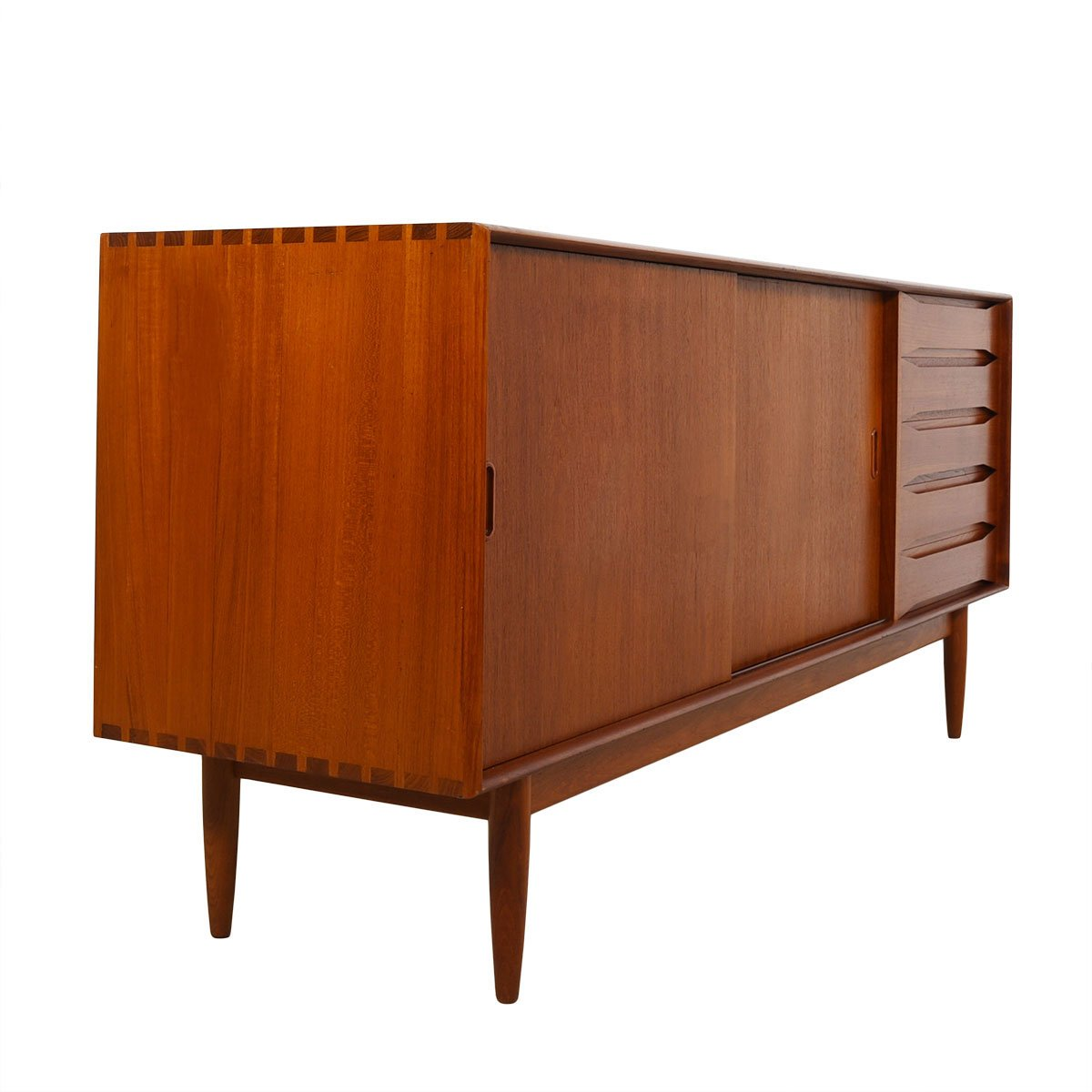 Rare Johannes Aasbjerg Danish Room Divider / Sideboard + Display Top in Solid-Teak