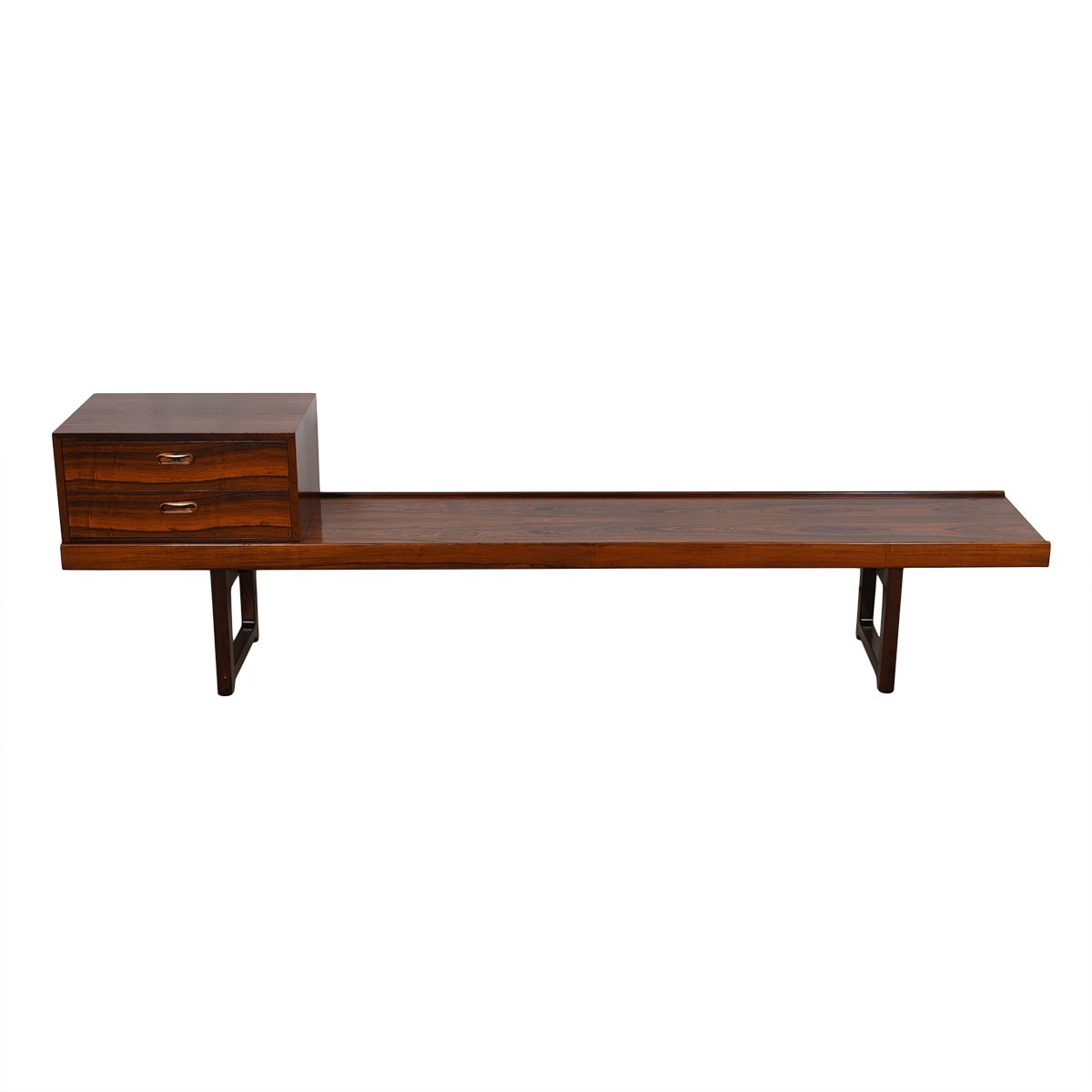 Danish Modern Rosewood Torbjorn Afdal Bruksbo Bench / Coffee Table