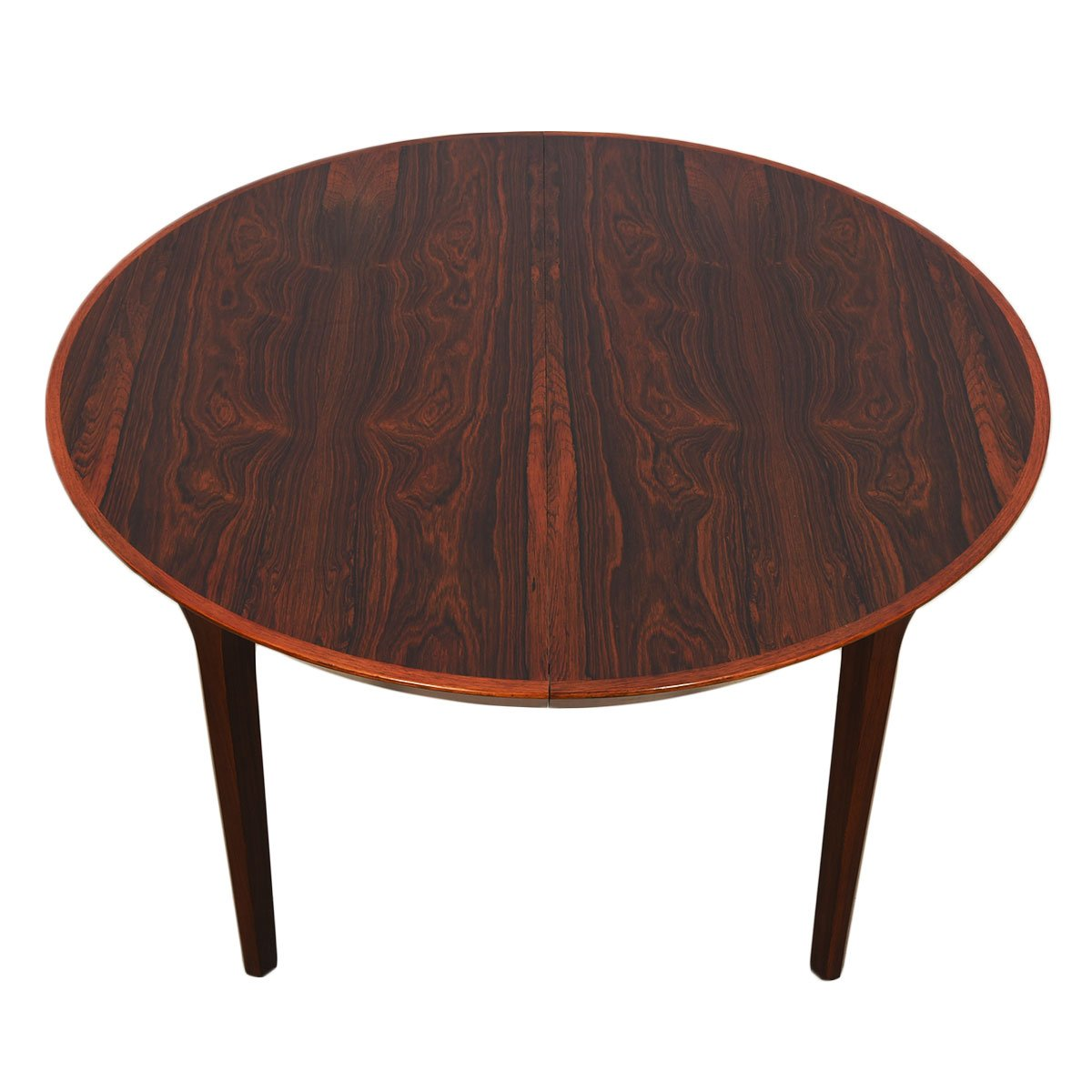 Kai Kristiansen Danish Rosewood Round-to-Oval Expanding Dining Table