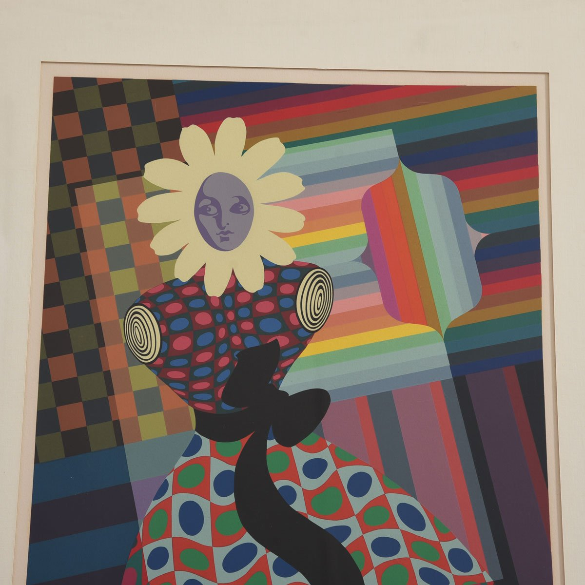 Victor Vasarely Fantastical Screenprint