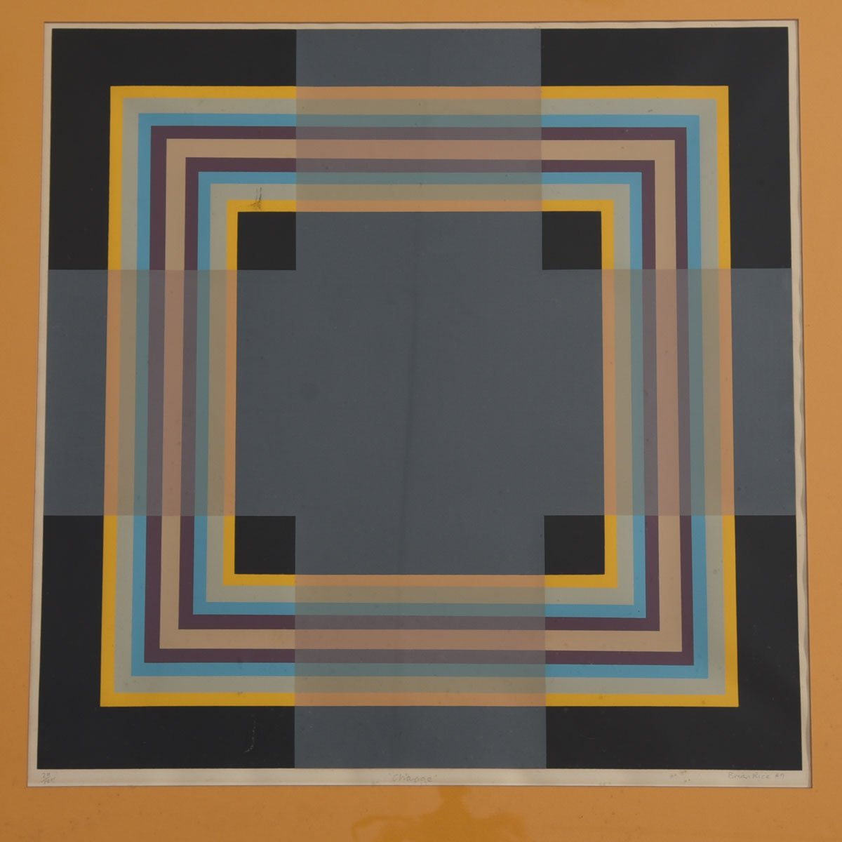 """Change"" Pop Art Screen Print of Multi-Layered Squares by Brian Rice"