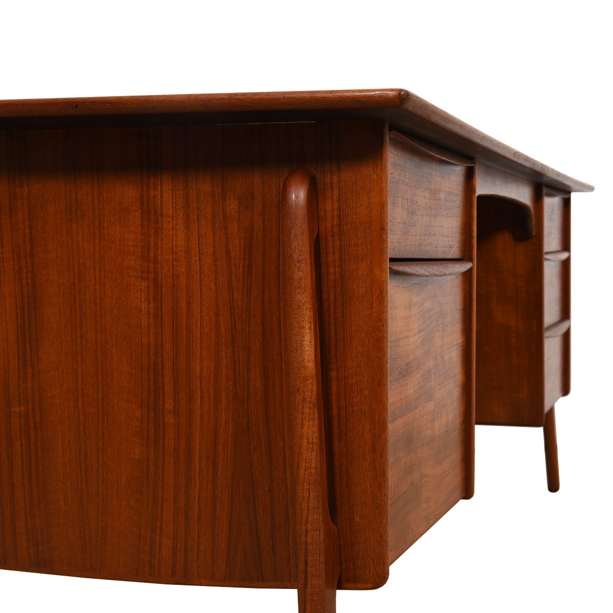 Danish Modern Teak Desk – Mid Sized