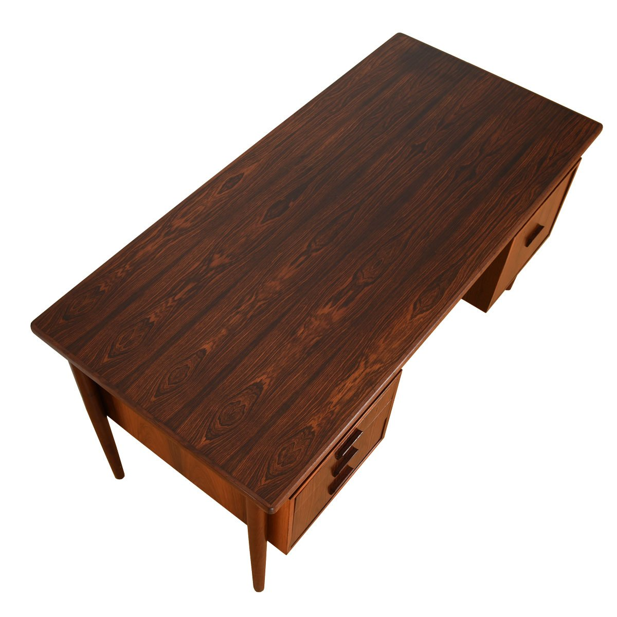 Danish Modern Floating Top Rosewood Desk