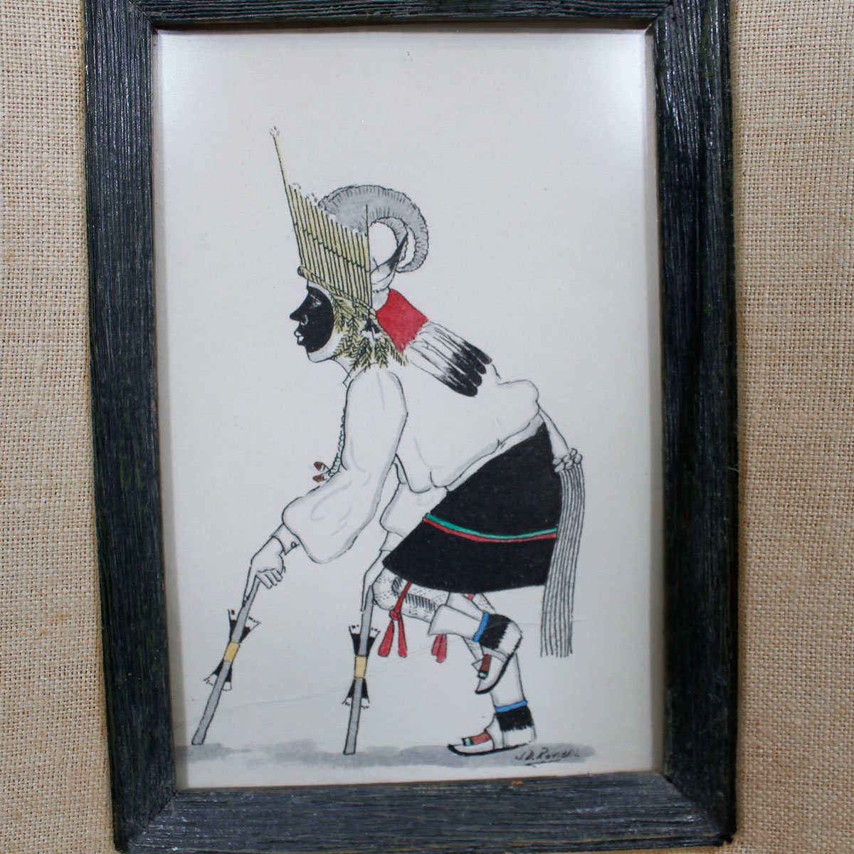 Vintage Native Artwork by J. D. Roybal