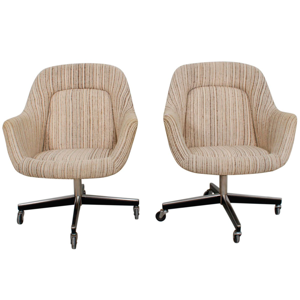 Knoll – Pair of '70s Upholstered Chairs