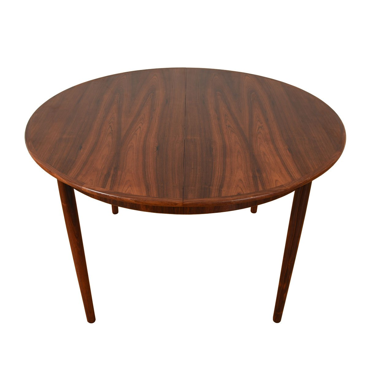 Danish Rosewood Round-to-Oval Expanding Dining Table