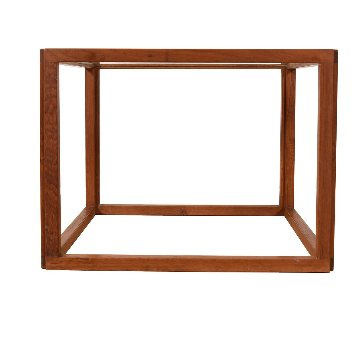 Cube Side Table w/ Glass Top