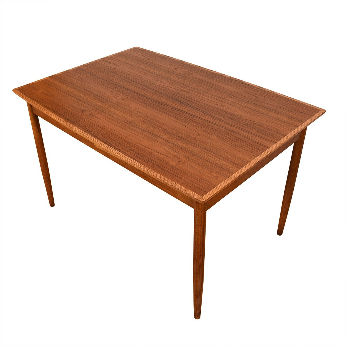 Two-Tone Danish Modern Walnut Small Expanding Dining Table