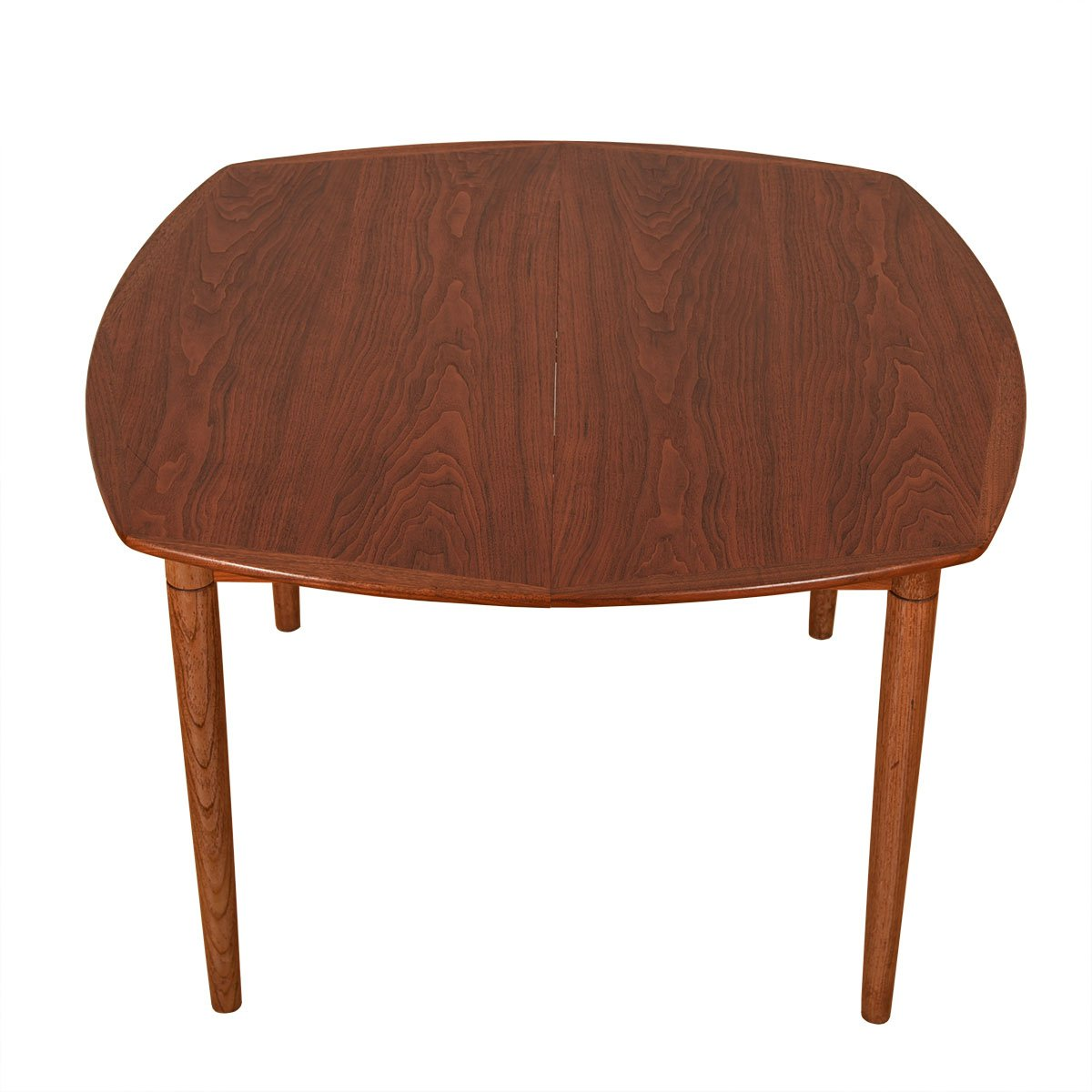 Danish Walnut 'Rounded Octagon' Expanding Dining Table