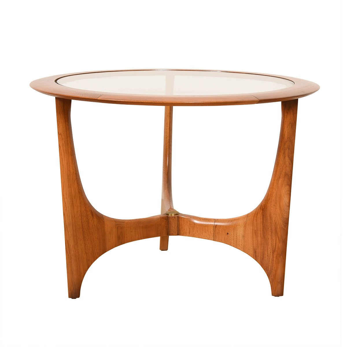 Adrian Pearsall Walnut & Inset Glass Accent / End Table