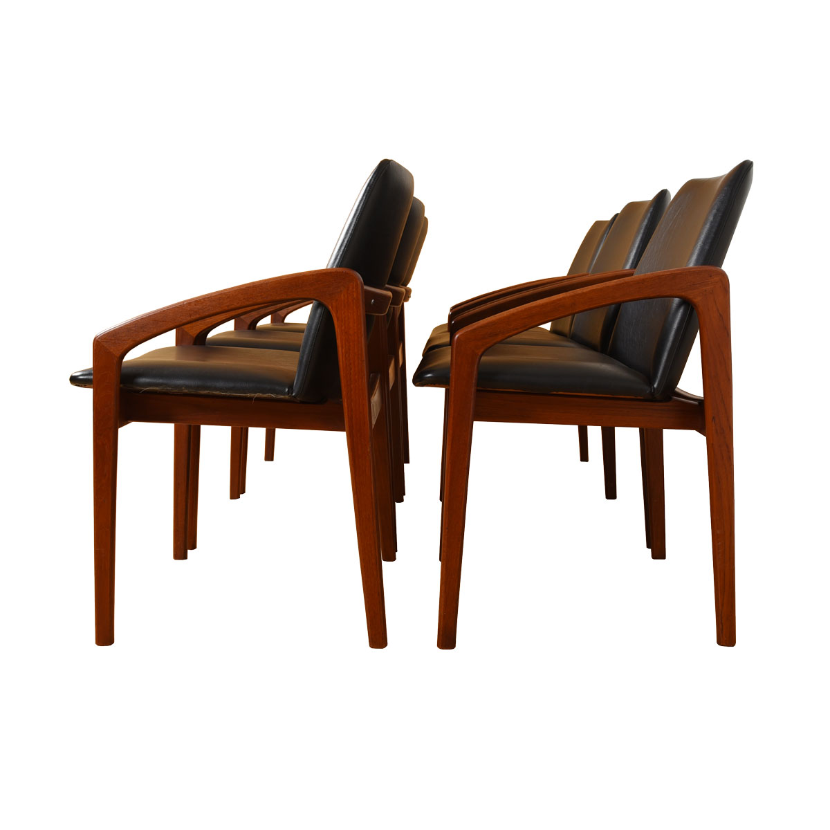 Stunning Set of 6 Kai Kristiansen Danish Teak Dining Chairs