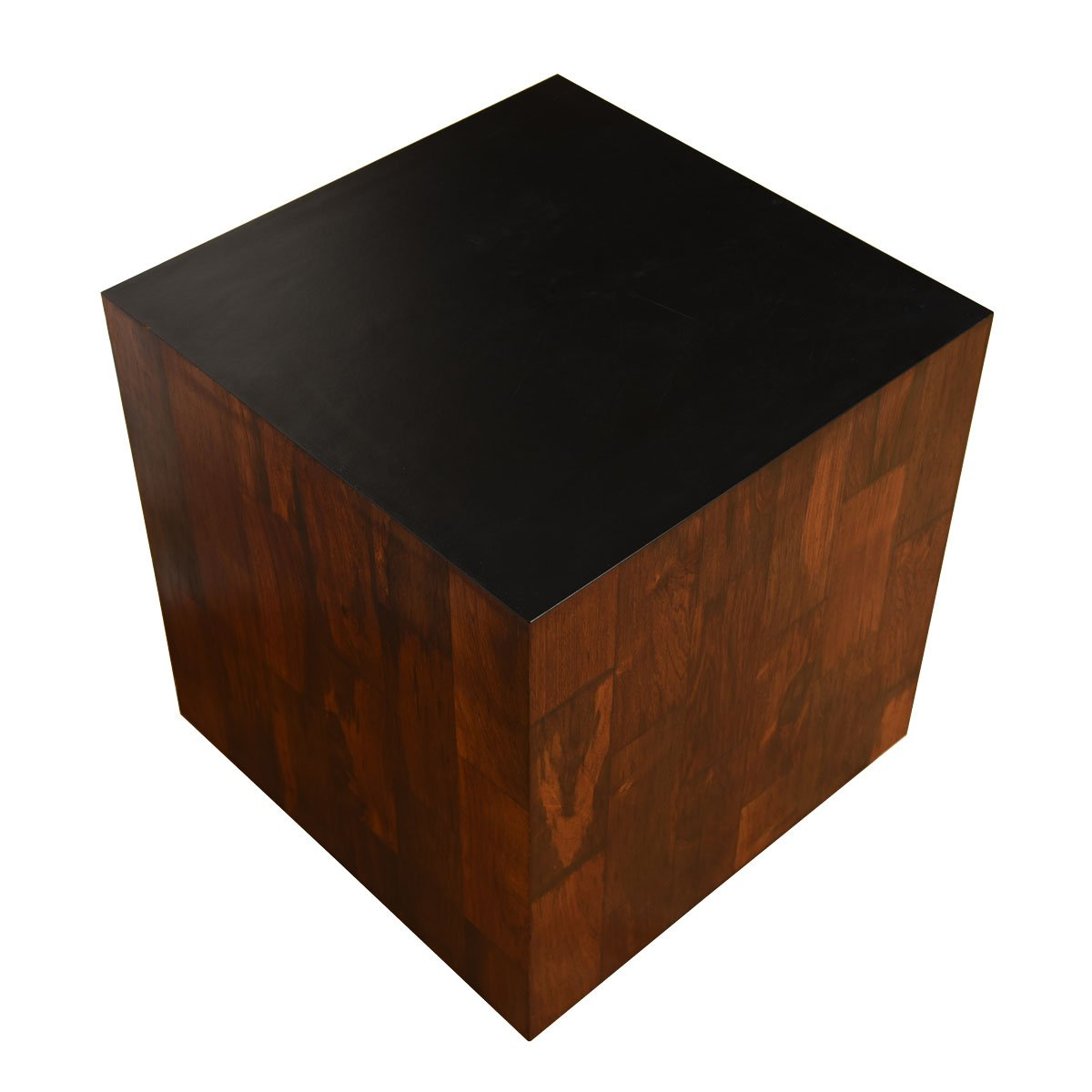 Rosewood Accent Table / Stool with Removable Cushion