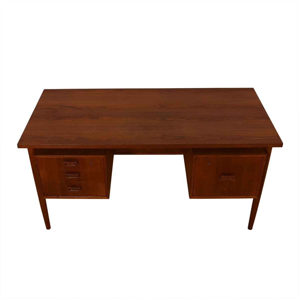 Mid-Sized Danish Modern Teak Desk
