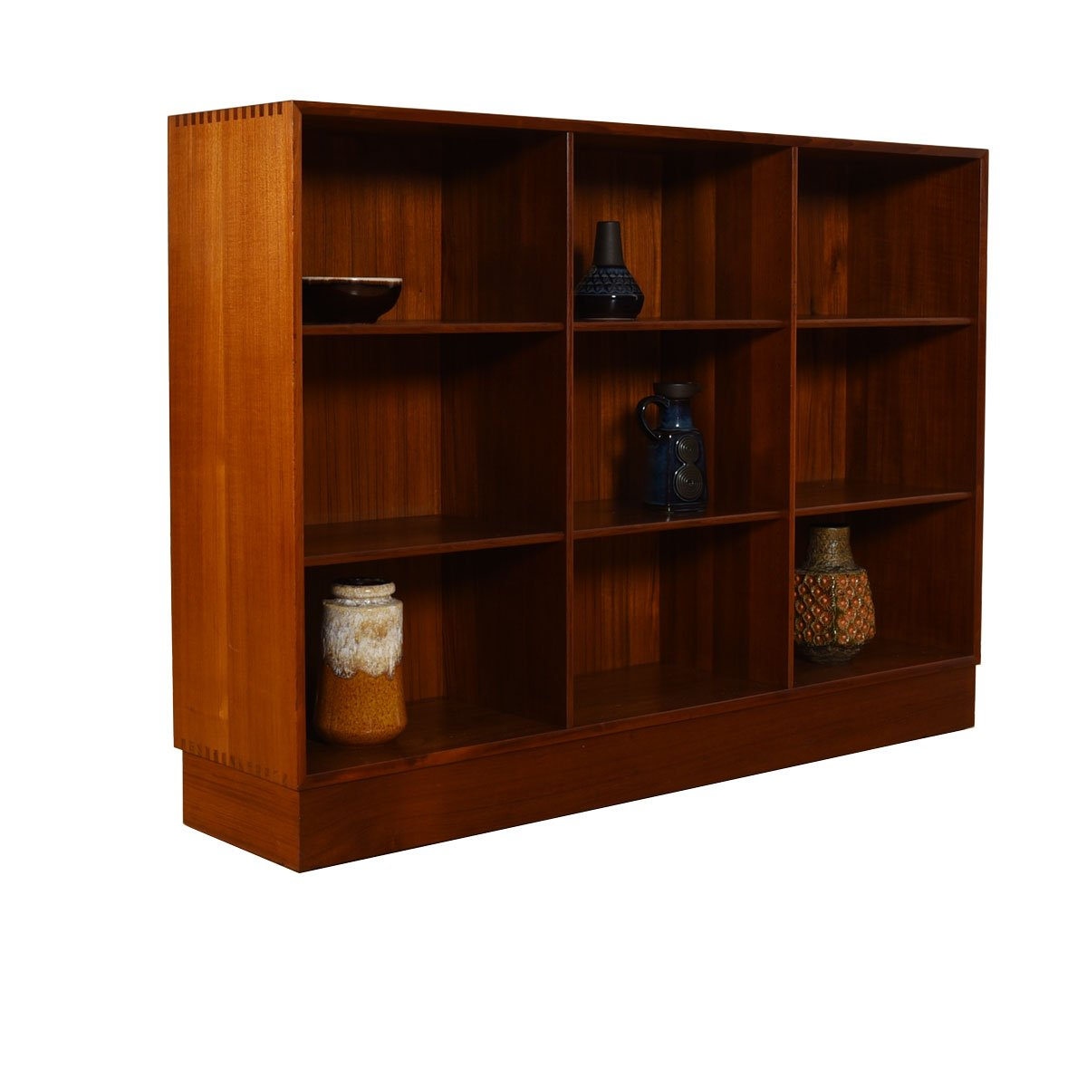 Pair of Solid Teak Danish Bookcases by Peter Hvidt – Rare Size