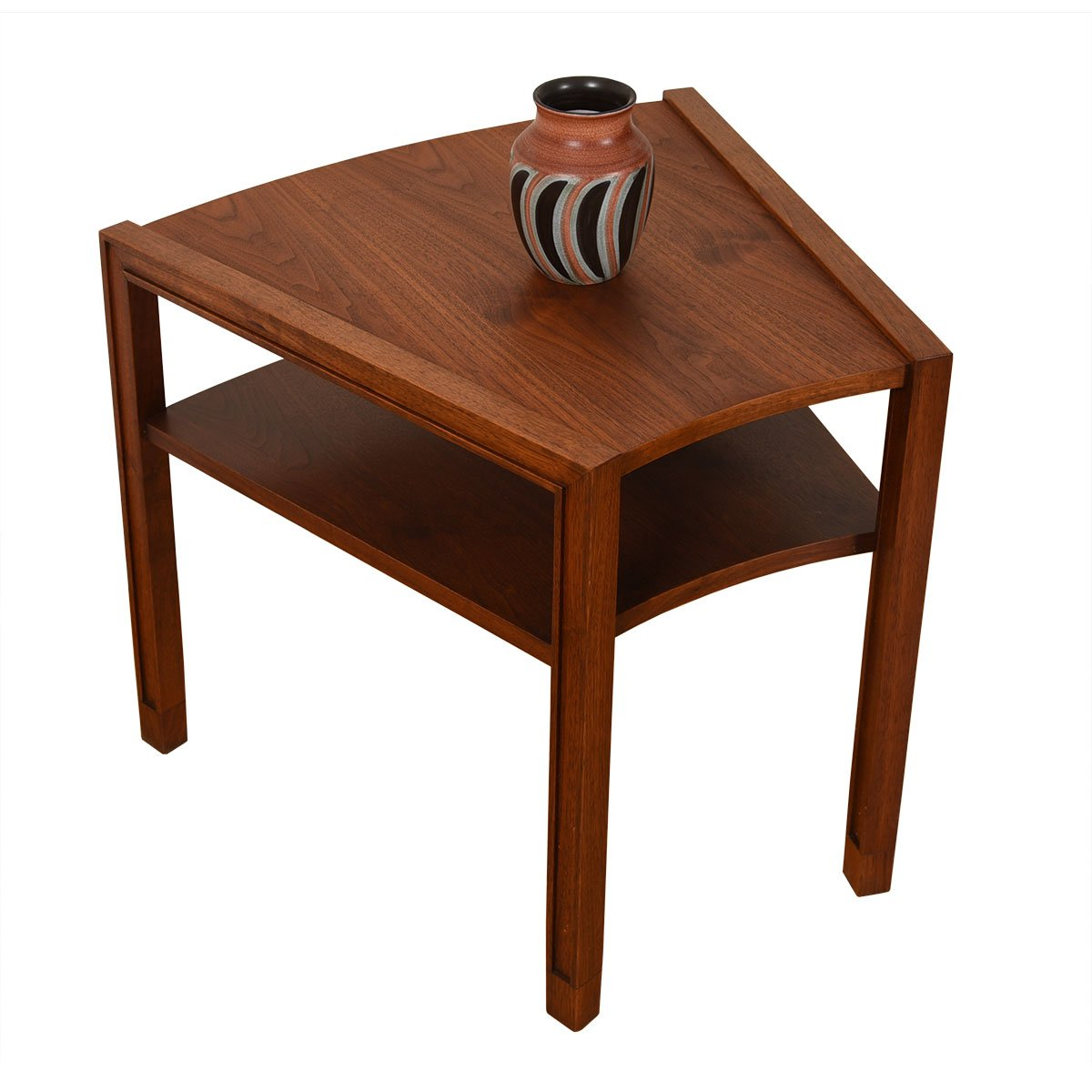 DUNBAR Mid Century 'Wedge' Accent Table with Shelf