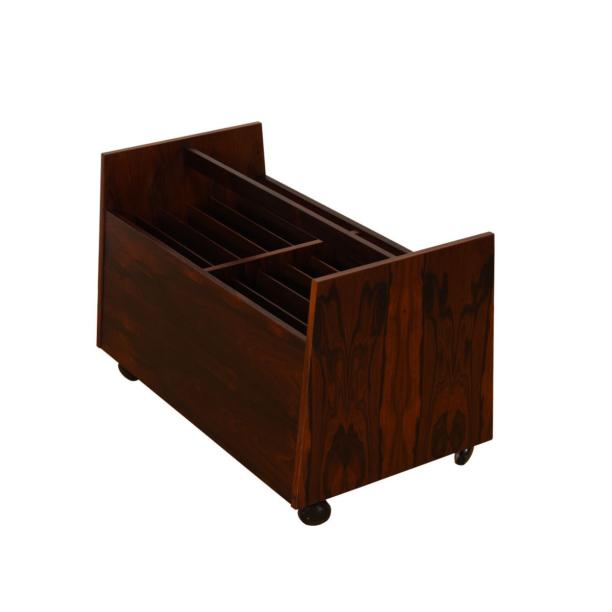 Gorgeous & Functional – Danish Rosewood Vinyl + Magazine Cart — More Pics to Come!