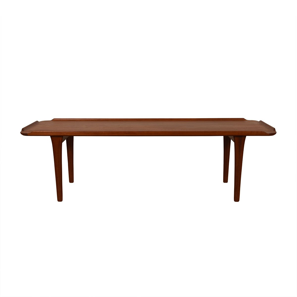 Danish Modern 'Raised-Edge' Teak Coffee Table