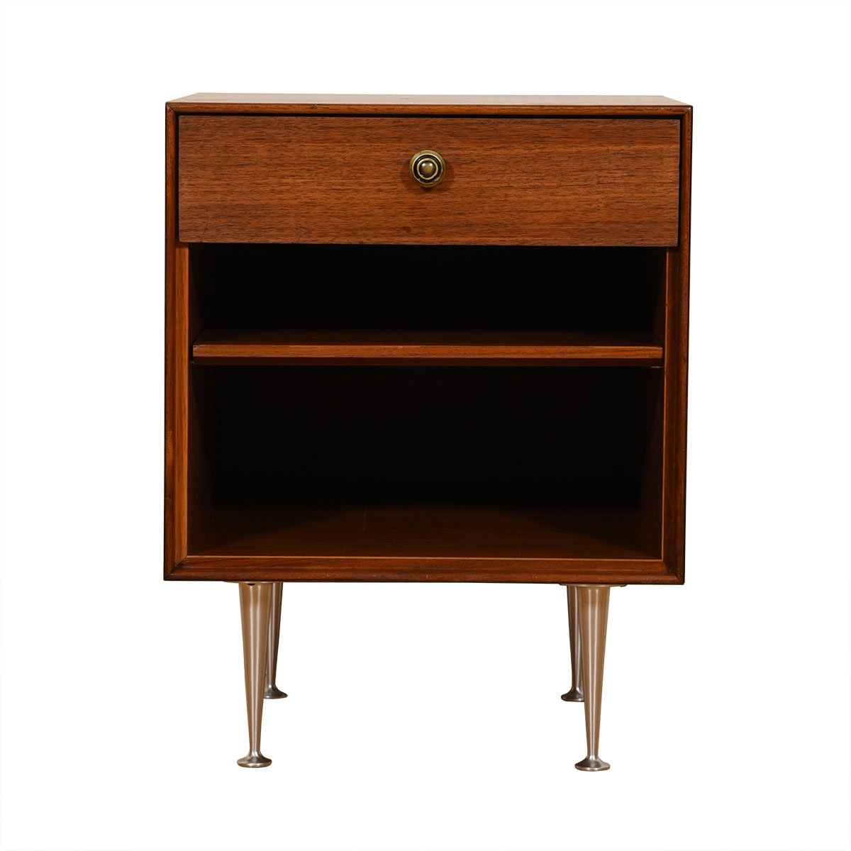 George Nelson MCM Walnut Nightstand by Herman Miller