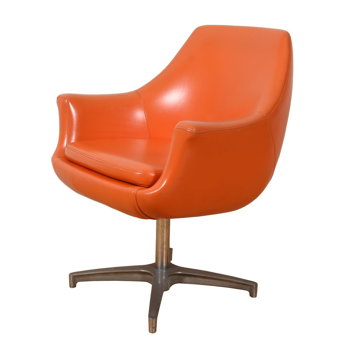 Pair of Mid Century MOD Orange Pod Chairs