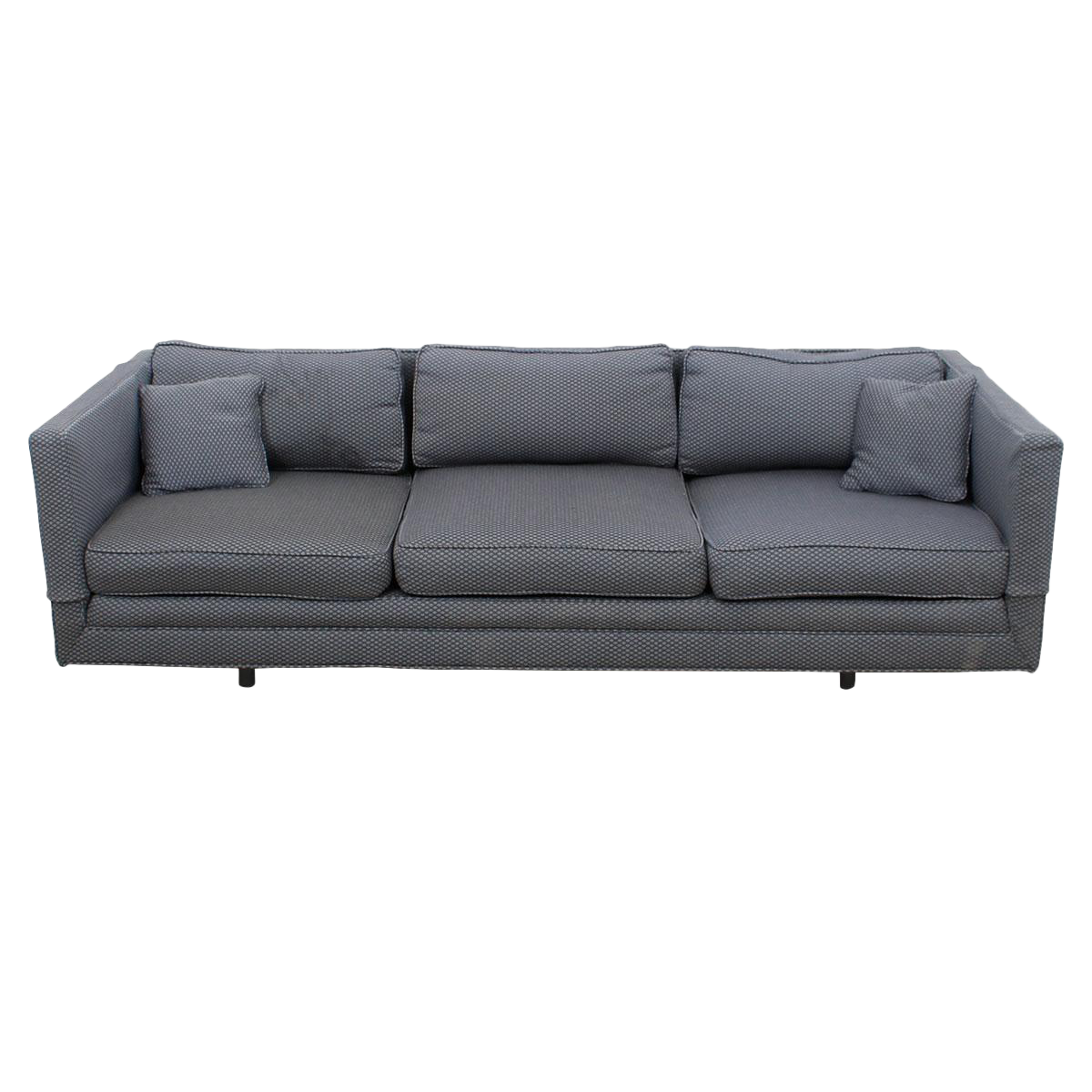 Knoll Blue & White Upholstered Sofa