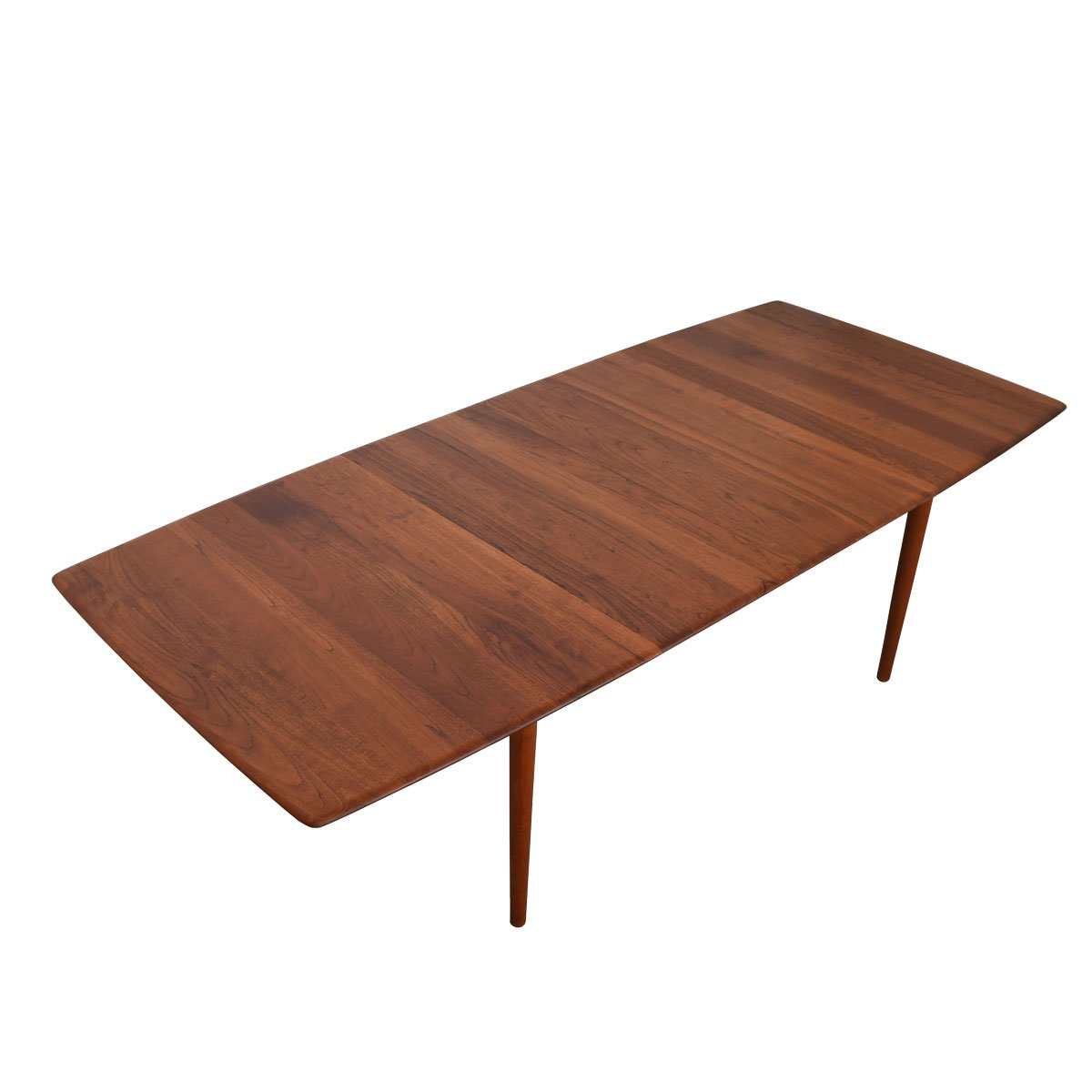 Peter Hvidt Smooth-Edge Solid Teak Expanding Dinging Table