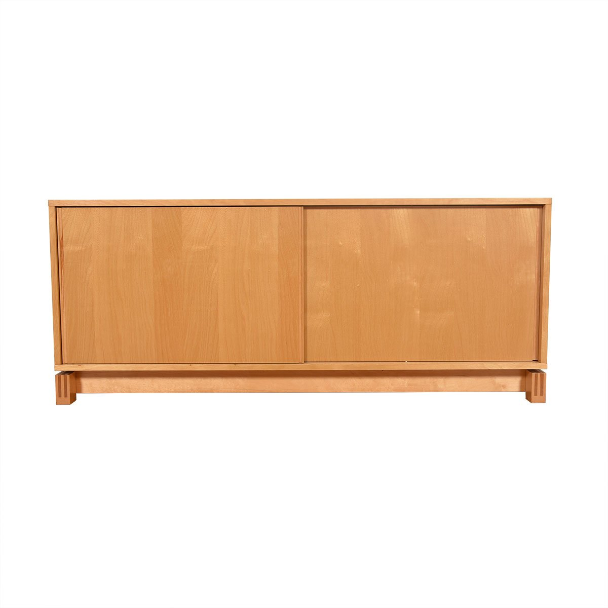 Mid-Century Modern Sliding Door Media Sideboard