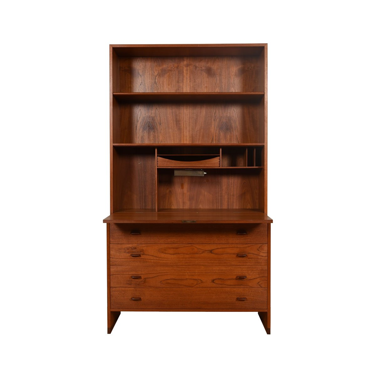 Hans Wegner Danish Teak 2 Pc. Drop-Down Secretary