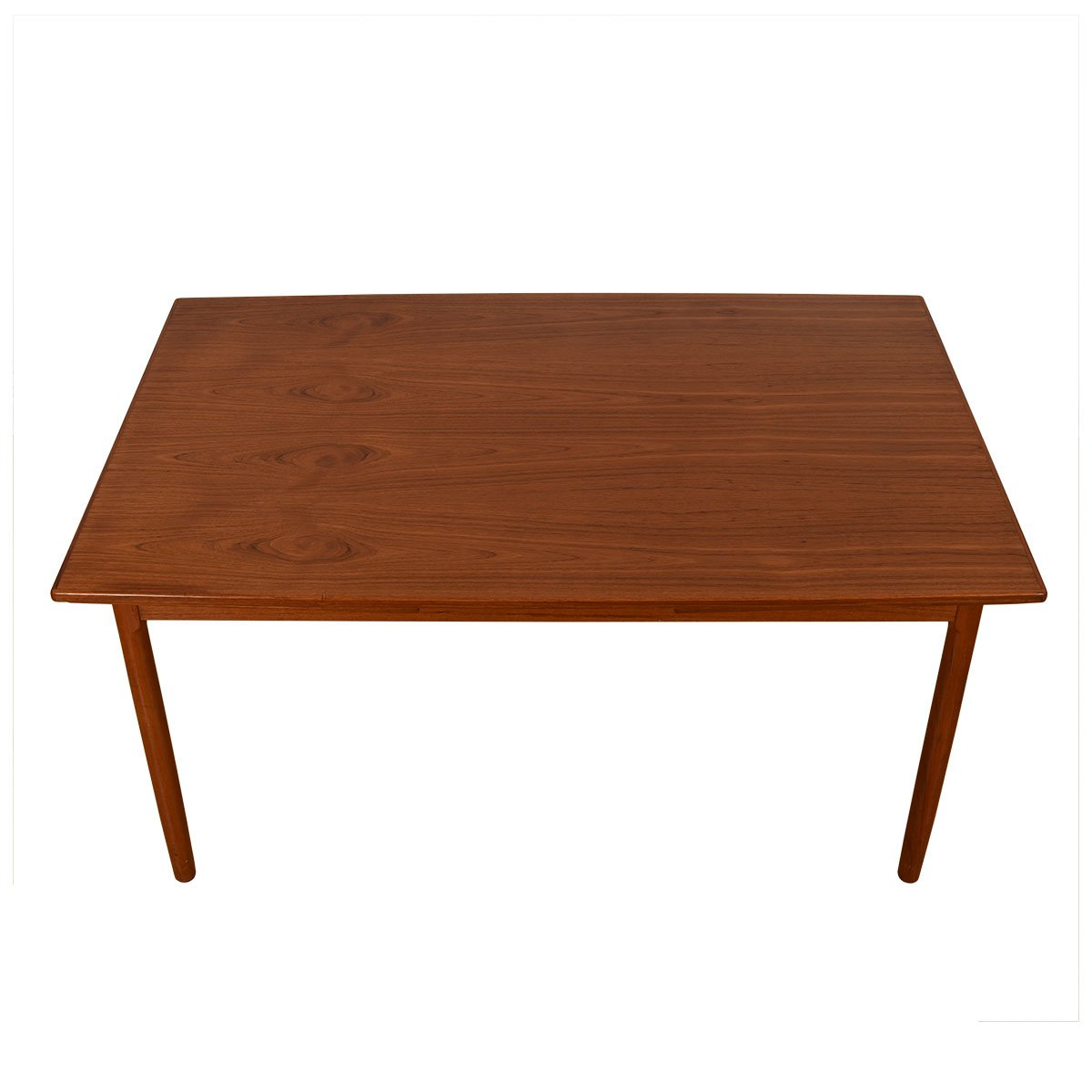 Danish Modern Teak Expanding Tapered Dining Table