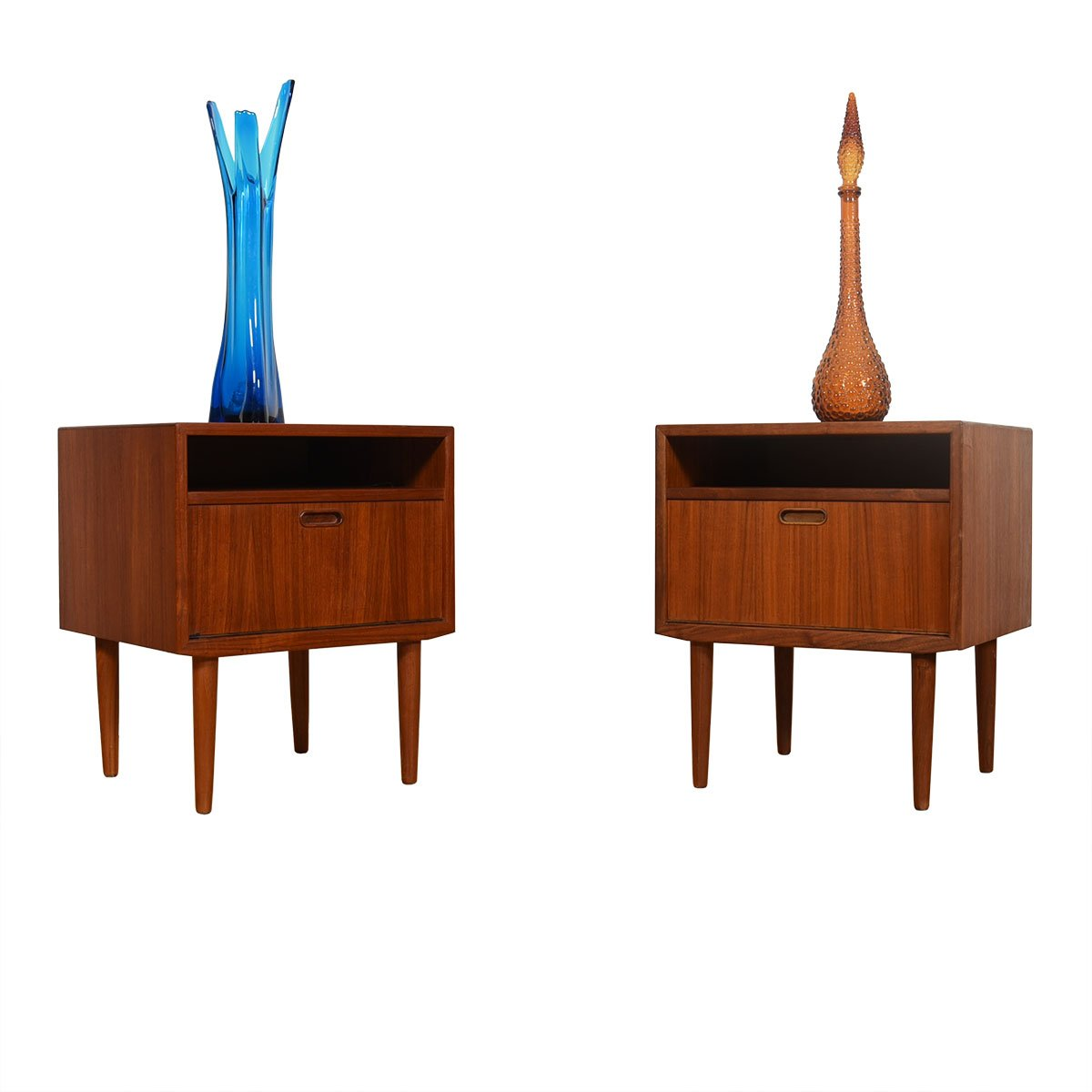 Pair of Danish Teak Nightstands / Side Tables by Vodder for Falster