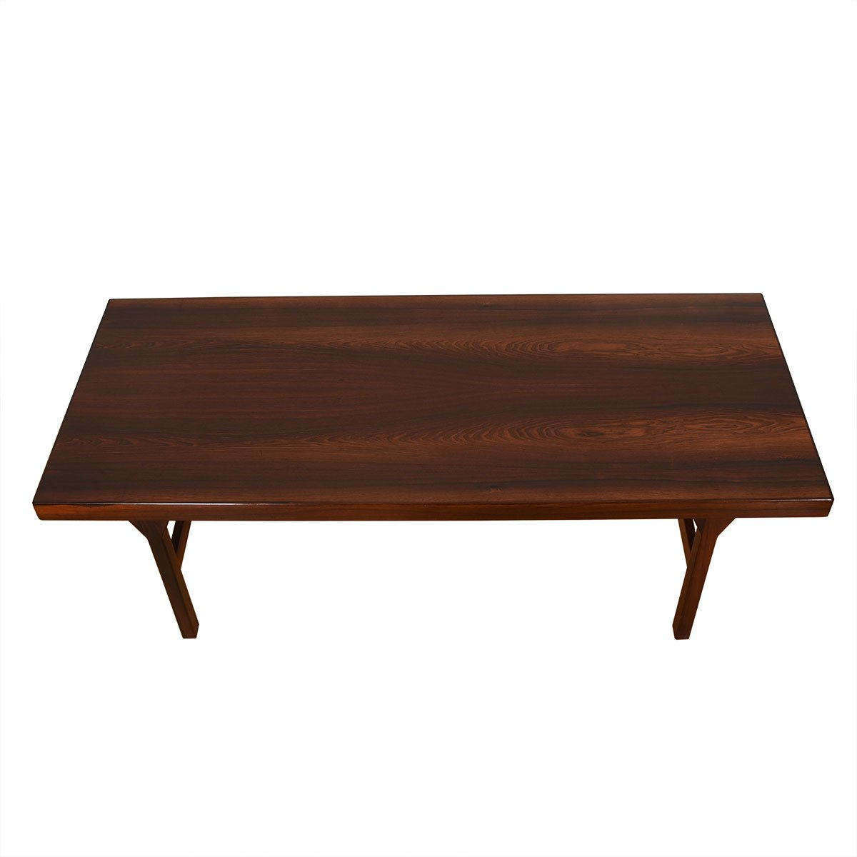 Danish Modern Rosewood Coffee Table w/ Expanding Shelf