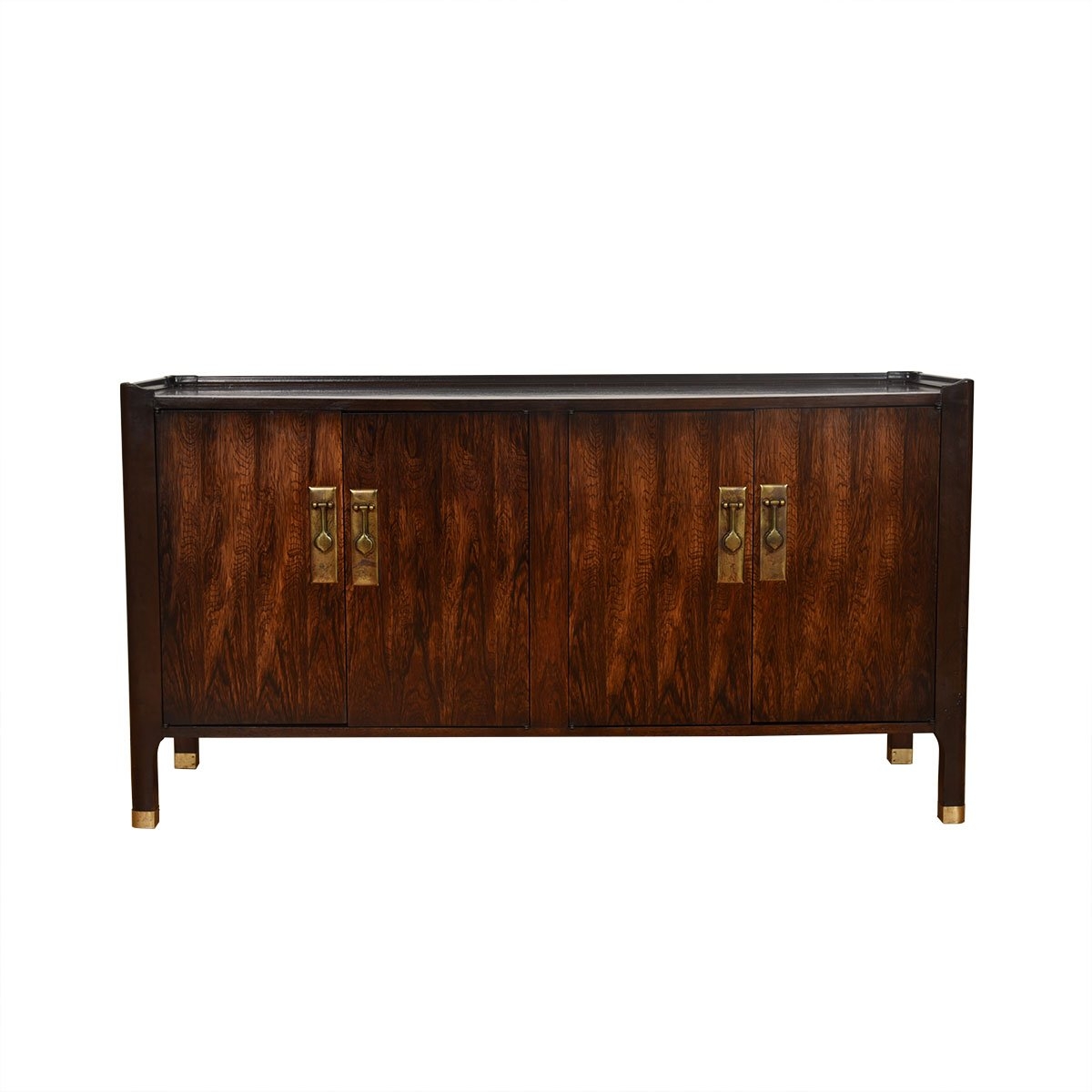 Mid Century Modern Decorative Cabinet w/ Brass Hardware